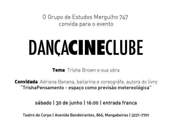 Dança Cine Clube 30 de junho