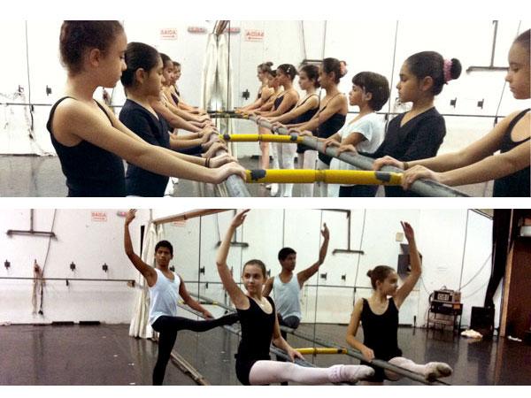 Aula de encerramento do curso de ballet clássico